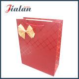 Papier ivoire laminées mattes UV & Bowknot Shopping Papier de cadeau des sacs à main