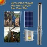 1000W 4 polegadas do Sistema da Bomba de irrigação Solar, completar o sistema de bomba de água solares