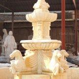 Cheval de marbre de jardin classique Fontaine à eau (GSF-122)
