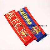 OEMによってカスタマイズされるロゴによって印刷されるポリエステルサテンのフットボールのファンクラブスカーフ