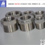 Montaje del tubo de acero inoxidable 304 y 316 casquillos hexagonales