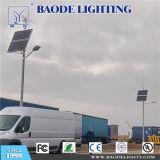 Baodeは30W40W50W60W80W100W動きセンサーランプの屋外の照明太陽LED街灯をつける