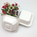 使い捨て可能で環境に優しいサトウキビのバガスのクラムシェルの食糧容器ボックス