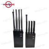 8bandjamming para CDMA/GSM/3G/4glte celular/WIFI/Bluetooth/GPS/Lojack /+Móvil +Gpsl/Glonass/Galileol1/L2/Wi-Fi y Bluetooth, teléfonos celulares de alta potencia Jammer