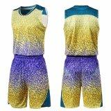 人の袖なしのバスケットボールの均一スポーツのスーツ乾燥した適合のバスケットボールジャージー