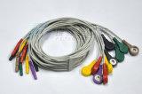 Разъем DIN кабеля ЭКГ кабель Holter 10 привести стопорное