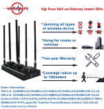 Radio de alta potencia de 150 metros de bloqueo de los teléfonos móviles, GPS Tracker de walkie-talkie, Lojack, WIFI/Bluetooth