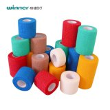 Non-Woven cohésive bandage souple avec flexible de bandes de couleur de compression imprimé à partir de gagnant Medical