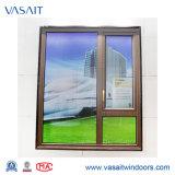 Finestra di vetro di alluminio della stoffa per tendine di vendita calda con 10 anni di garanzia