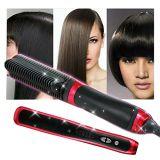 Cepillo de cerámica de la enderezadora del pelo de la visualización del LCD del profesional