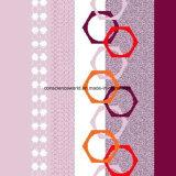 100%Polyester a figura geométrica Pigment&Disperse imprimiu a tela para o jogo do fundamento