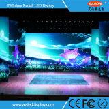Afficheur LED P4 de location d'intérieur pour l'étape