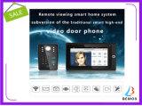 """Doorbell video do intercomunicador do telefone da porta 7 de """" da senha sem fio popular WiFi RFID"""