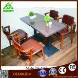 Móveis para sala de jantar Mesa de jantar de luxo com 4 cadeiras de metal