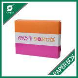 Напечатанные коробки бумажного донута упаковывая оптом
