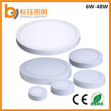 La iluminación de ahorro de energía de superficie redonda Accesorios Lámpara de techo LED SMD de 6W de luz de panel
