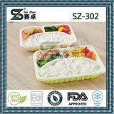 Compartimento 3 Levar comida de plástico contentor