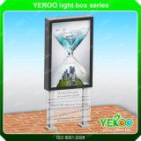 Постоянного соединения на массу рекламы с подсветкой двухсторонний Стрит Mupi блок освещения