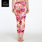 Kundenspezifische Muster-Yoga Legging Gymnastik Capri Hosen für Frauen