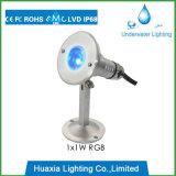 Da lâmpada subaquática do ponto claro do diodo emissor de luz do aço inoxidável iluminação ao ar livre da paisagem