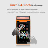 Zkc PC900 3G Dual Screen Android NFC Tablet com câmera de impressora RFID WiFi