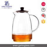 1330ml de Waterkruik van het Glas van Borosilicate van het Ontwerp van het bamboe met het Deksel van het Roestvrij staal