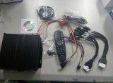 4CH coche caja negra DVR móvil, soporta tarjetas SD y disco duro dual
