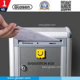Aluminio pared económico Buzón de correo electrónico con el bloqueo de tamaño mediano, M01
