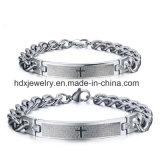 Form-Bibel-Schrift-Kreuz-Edelstahl-Geliebt-Paar-Armband