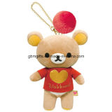 Animais personalizados de pelúcia Teddy Bear Toys Plush Keychain