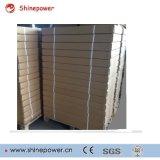 120WP aluminium panneau solaire flexible avec tôle arrière en aluminium