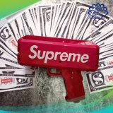 Dólar/euro- injetor do canhão do dinheiro do brinquedo da celebração do injetor do dinheiro de papel com papel falsificado do dinheiro