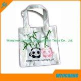 Color blanco natural de la bolsa de algodón ecológico