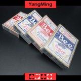 Tarjeta que juega del póker dedicado del casino de la abeja de Estados Unidos para los juegos de juego del casino con el color rojo y azul Ym-PC01