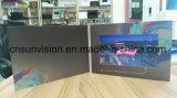 """Voll gedruckte 7 """" LCD Spieler-videobroschüre-Werbungs-Karte"""