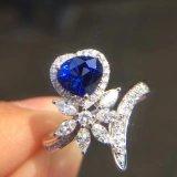 De Zilveren Ring van het hart en van de Bloem met Kubieke Zircon