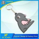 Titular de chave de desenho de borracha de PVC personalizado para atacado profissional / chave para lembrança (XF-KC-P34)