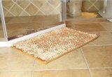 Shiny Chenille Long Pile Tapete de porta de banheiro com base anti deslizamento