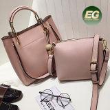 중국 공장 도매가 평야 PU 이동할 수 있는 작은 주머니 여자 핸드백 Sy8302를 가진 가죽 끈달린 가방