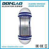Observação panorâmica com elevação Cabina de vidro do passageiro para passeios turísticos