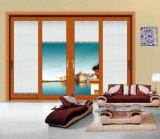 Раздвижная дверь нового двойника высокого качества типа стеклянная алюминиевая