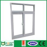 Precios baratos de la ventana corrediza de aluminio con pantalla de mosquitos Pnoc0124slw