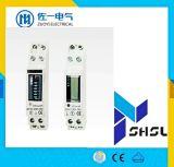 Малый счетчик энергии рельса одиночной фазы 50A Kwh LCD DIN размера