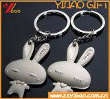 Keyring lindo/Keyholder/Keychains (YB-HD-88) de la insignia del conejo del metal de la hebra del regalo de la promoción