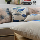 Cópia de linho do algodão luxuoso descansos decorativos do quadrado de 18 polegadas