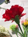 Rote künstliche Blumen-reale Noten-Latex-Fälschungs-Gartennelke für Haupthochzeits-Dekoration-Zubehör