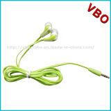 écouteur bon marché stéréo de câble plat de 3.5mm sans MIC