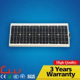 Alte apparecchi d'illuminazione tutte in un indicatore luminoso di via solare Integrated