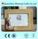 Frames personalizados alta qualidade da resina para fotos com Figurine do urso