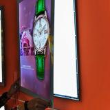 Anúncios de mídia de alumínio Ultra Slim Caixa de luz LED interior